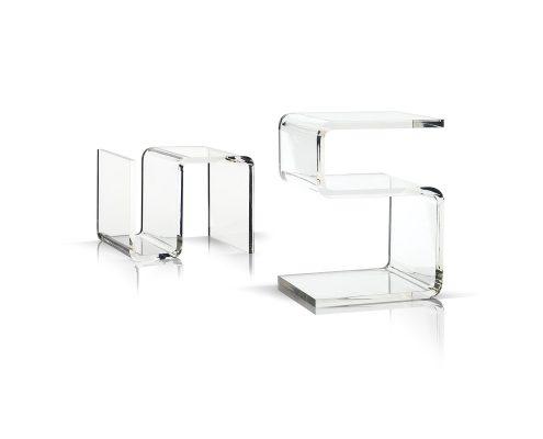 Acrylglas - Couch- & Beistelltisch von Bretz