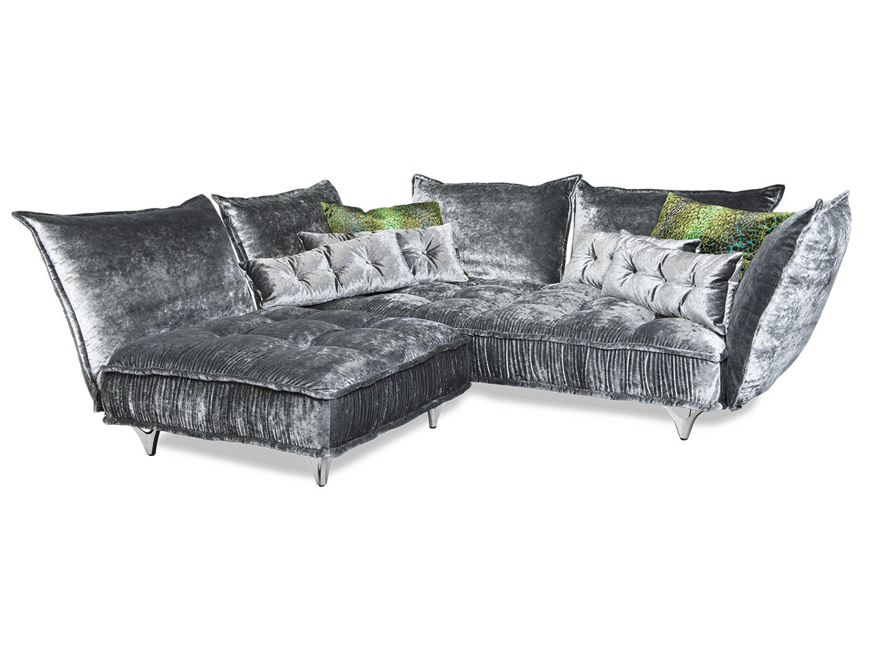 sofa mit sessel garnitur puerto in schwarz mit. Black Bedroom Furniture Sets. Home Design Ideas