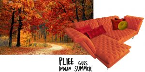 Bretz Sofa Pliee Indian Summer