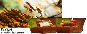 Bretz Sofa Matilda Herbstfarben