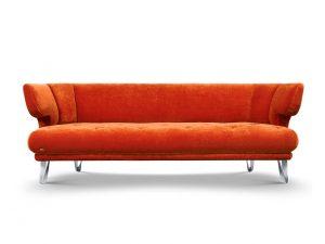 CROISSANT-Bretz-Sofa-Kupfer-Frontansicht